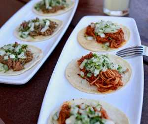 Chicken Tinga and Pork Carnitas Tacos